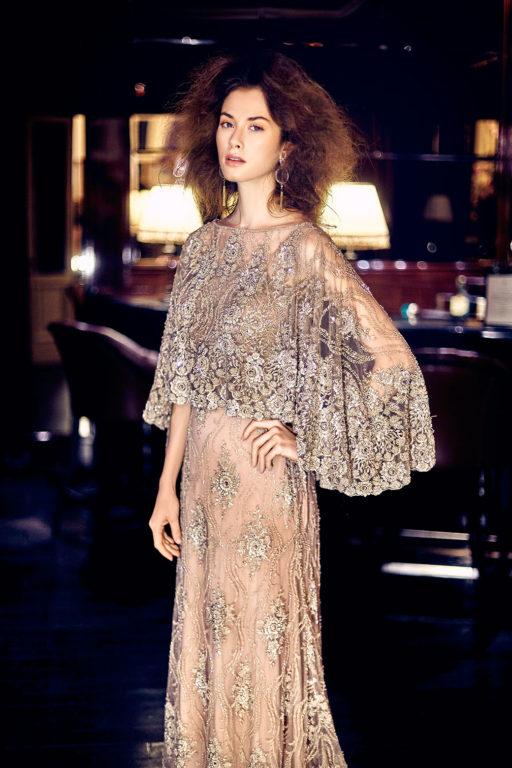 """Společenské šaty - vyšívaná korálková krajka, model """"Haute Couture"""""""