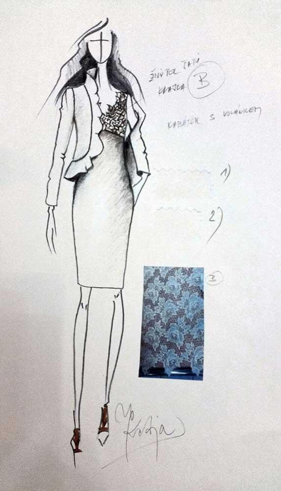 Pouzdrové šaty s kabátkem<br> krajka Dolce & Gabbana