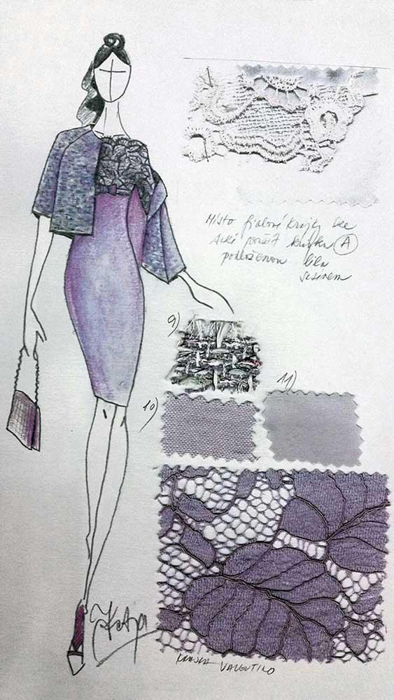 Pouzdrové šaty s kabátkem<br> krajka Valentino<br> kabátek - efektní bouclé Chanel